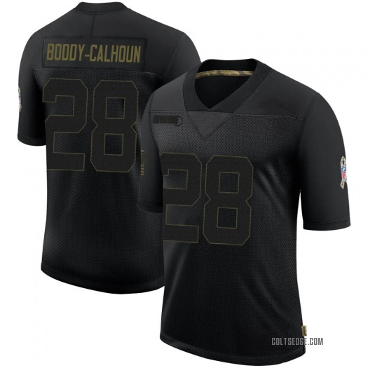 Nike Briean Boddy-Calhoun Indianapolis Colts Limited Black 2020 Salute To Service Jersey - Men's