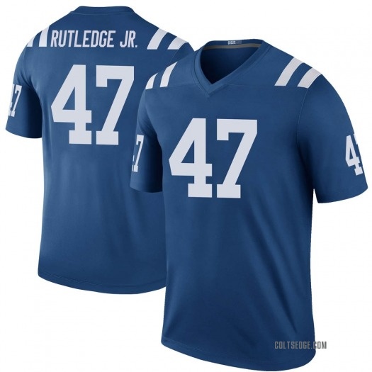 Nike Donald Rutledge Jr. Indianapolis Colts Legend Royal Color Rush Jersey - Men's