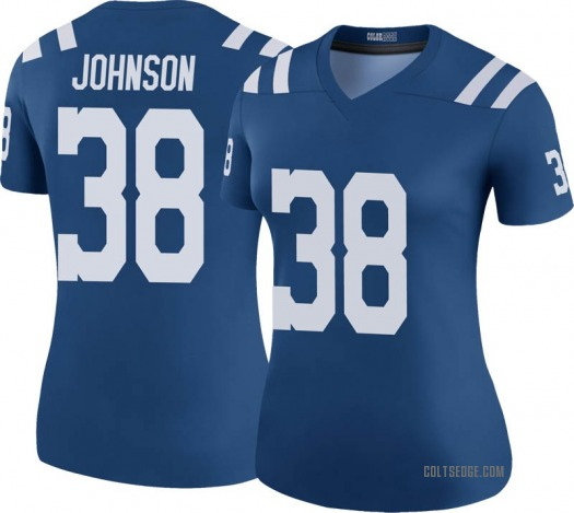 Nike Isaiah Johnson Indianapolis Colts Legend Royal Color Rush Jersey - Women's
