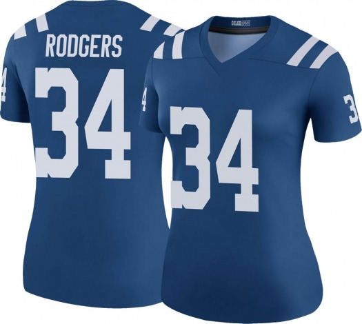 Nike Isaiah Rodgers Indianapolis Colts Legend Royal Color Rush Jersey - Women's