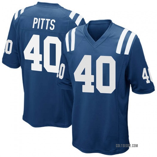 Nike Lafayette Pitts Indianapolis Colts Game Royal Blue Team Color Jersey - Men's