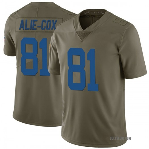 Nike Mo Alie-Cox Indianapolis Colts Limited Green 2017 Salute to Service Jersey - Men's