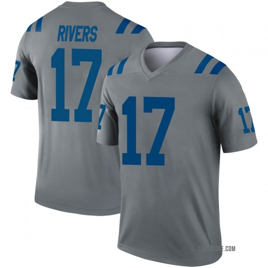 Nike Philip Rivers Indianapolis Colts Legend Gray Inverted Jersey - Youth