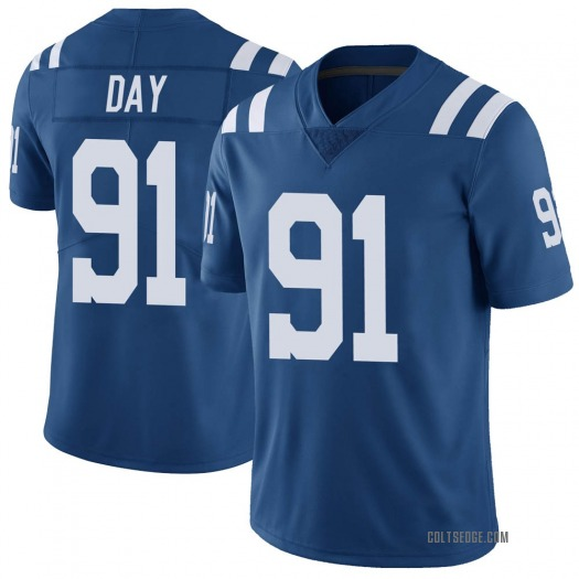 Nike Sheldon Day Indianapolis Colts Limited Royal Color Rush Vapor Untouchable Jersey - Men's